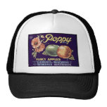 Vintage, Retro Fruit and Vegetable Crate Labels Mesh Hat