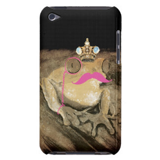 Vintage retro fun girly pinks mustache bling crown iPod touch cases