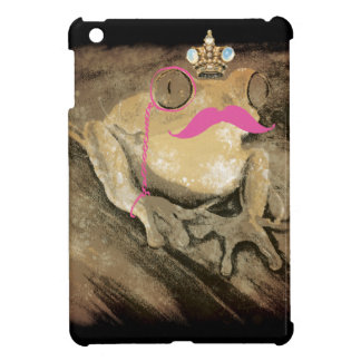 Vintage retro fun girly pinks mustache bling crown case for the iPad mini