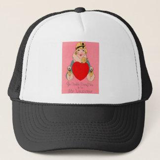 Vintage Retro Gangster Valentine Card Trucker Hat