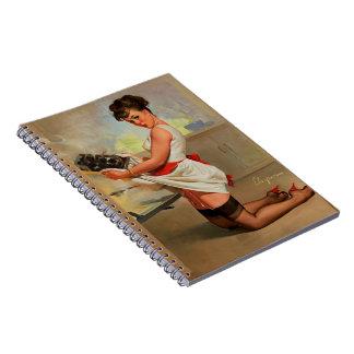 Vintage Retro Gil Elvgren Baker Pin Up Girl Notebook