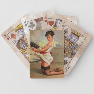 Vintage Retro Gil Elvgren Baker Pin Up Girl Bicycle Playing Cards