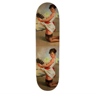 Vintage Retro Gil Elvgren Baker Pin Up Girl Skateboard