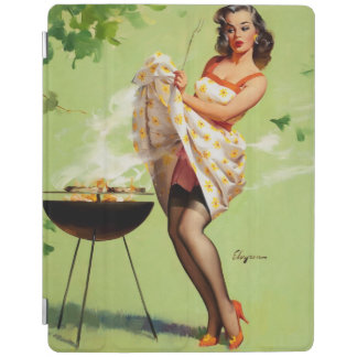 Vintage Retro Gil Elvgren Barbeque Pin Up Girl iPad Smart Cover