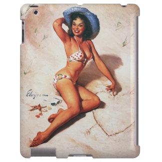Vintage Retro Gil Elvgren Beach Summer Pinup Girl