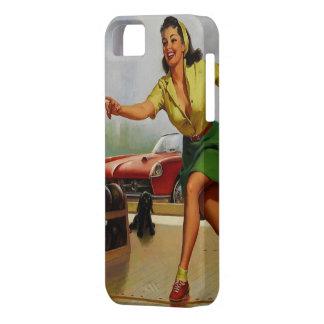 Vintage Retro Gil Elvgren Bowling pinup girl iPhone SE/5/5s Case