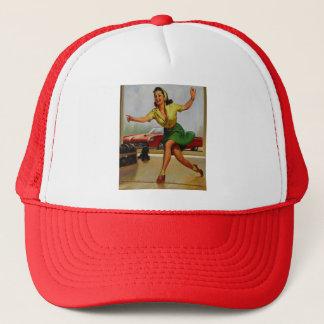 Vintage Retro Gil Elvgren Bowling pinup girl Trucker Hat