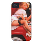 Vintage Retro Gil Elvgren Car Mechanic Pinup Girl Case-Mate iPhone 4 Cases