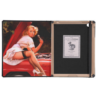Vintage Retro Gil Elvgren Car Mechanic Pinup Girl Cover For iPad