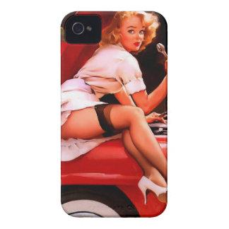 Vintage Retro Gil Elvgren Car Mechanic Pinup Girl Case-Mate iPhone 4 Case