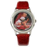 Vintage Retro Gil Elvgren Car Mechanic Pinup Girl Wristwatch