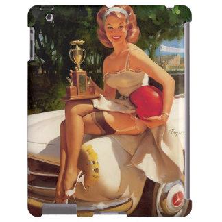 Vintage Retro Gil Elvgren Car Race Pin Up Girl