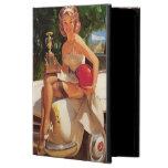 Vintage Retro Gil Elvgren Car Race Pin Up Girl Case For iPad Air