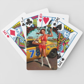 Vintage Retro Gil Elvgren Car Race Pin Up Girl Bicycle Playing Cards