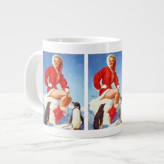 Vintage Retro Gil Elvgren Christmas Pin UP Girl 20 Oz Large Ceramic Coffee Mug