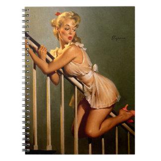 Vintage Retro Gil Elvgren Classic Pin Up Girl Notebook