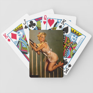 Vintage Retro Gil Elvgren Classic Pin Up Girl Bicycle Playing Cards