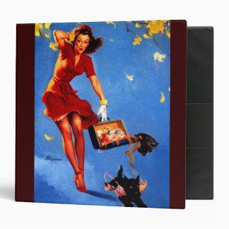 Vintage Retro Gil Elvgren Fall Spell Pinup Girl Vinyl Binder