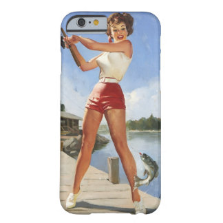 Vintage Retro Gil Elvgren Fishing Pinup Girl Barely There iPhone 6 Case