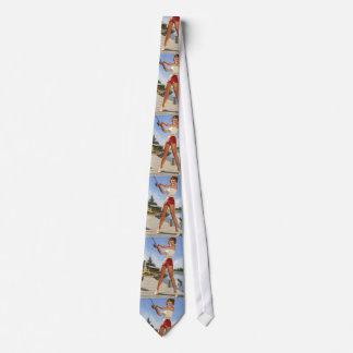 Vintage Retro Gil Elvgren Fishing Pinup Girl Tie