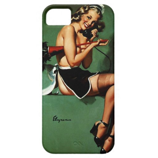 Vintage Retro Gil Elvgren French Maid Pinup Girl iPhone 5 Cover