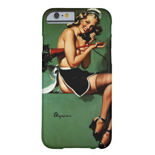 Vintage Retro Gil Elvgren French Maid Pinup Girl iPhone 6 Case