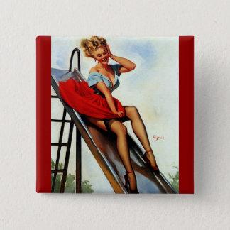 Vintage Retro Gil Elvgren Fun Slide Pin Up Girl