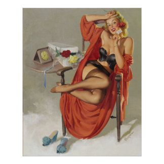 Vintage Retro Gil Elvgren Glamour Pin Up Girl Print