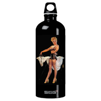 Vintage Retro Gil Elvgren Ironing Pinup Girl SIGG Traveler 1.0L Water Bottle