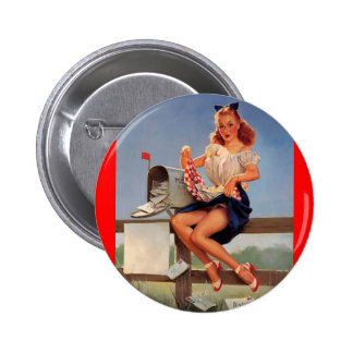 Vintage Retro Gil Elvgren Mail Box Pinup Girl Pins