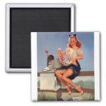 Vintage Retro Gil Elvgren Mail Box Pinup Girl Magnet