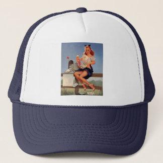 Vintage Retro Gil Elvgren Mail Box Pinup Girl Trucker Hat