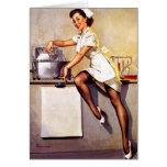 Vintage Retro Gil Elvgren Nurse Pin Up Girl Greeting Card