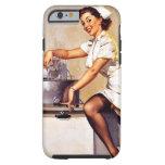 Vintage Retro Gil Elvgren Nurse Pin Up Girl Tough iPhone 6 Case