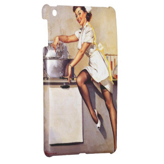 Vintage Retro Gil Elvgren Nurse Pin Up Girl iPad Mini Cover