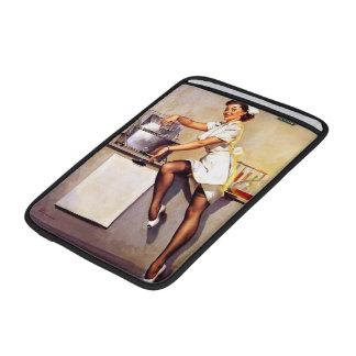 Vintage Retro Gil Elvgren Nurse Pin Up Girl MacBook Sleeves