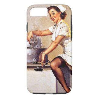 Vintage Retro Gil Elvgren Nurse Pin Up Girl iPhone 8/7 Case