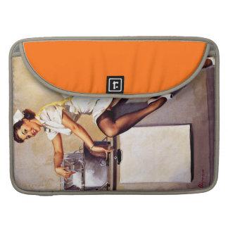 Vintage Retro Gil Elvgren Nurse Pin Up Girl MacBook Pro Sleeves