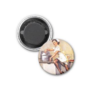 Vintage Retro Gil Elvgren Nurse Pin Up Girl Magnet