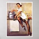 Vintage Retro Gil Elvgren Nurse Pin Up Girl Posters
