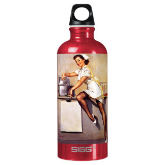 Vintage Retro Gil Elvgren Nurse Pin Up Girl SIGG Traveler 0.6L Water Bottle