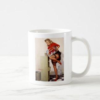 Vintage Retro Gil Elvgren Office Pinup Girl Coffee Mug