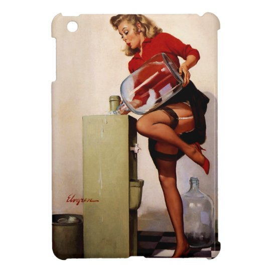 Vintage Retro Gil Elvgren Office Pinup Girl iPad Mini Case
