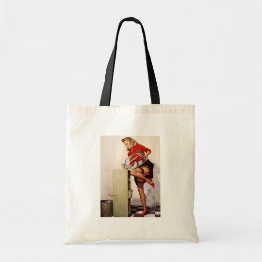 Vintage Retro Gil Elvgren Office Pinup Girl Tote Bag