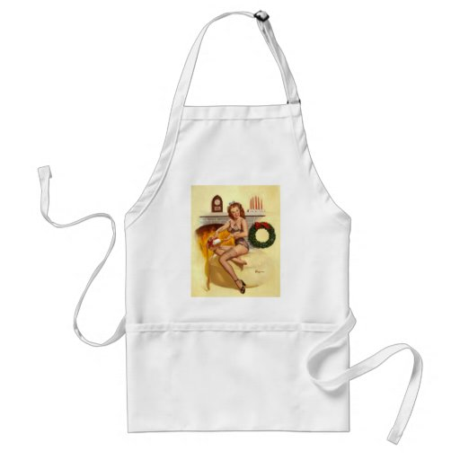 Vintage Retro Gil Elvgren Pin Up Girl Aprons