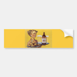 Vintage Retro Gil Elvgren Pin Up Girl Bumper Sticker