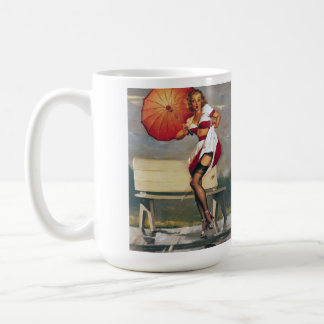 Vintage Retro Gil Elvgren Pin Up Girl Coffee Mug