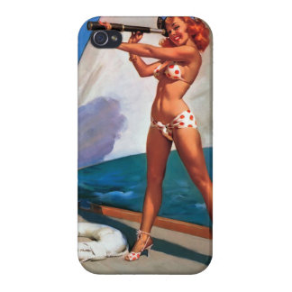 Vintage Retro Gil Elvgren Pin up Girl Illustration iPhone 4/4S Covers