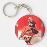Vintage Retro Gil Elvgren Pin Up Girl Key Chain