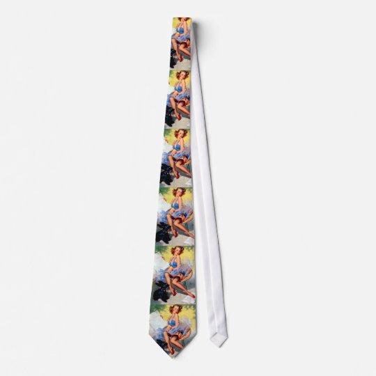 Vintage Retro Gil Elvgren Pin Up Girl Neck Tie
